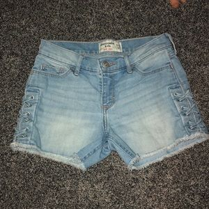 Abercrombie kids denim shorts girls 11/12